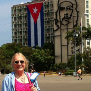 Sonja at Revolution Square in Havana, Cuba
